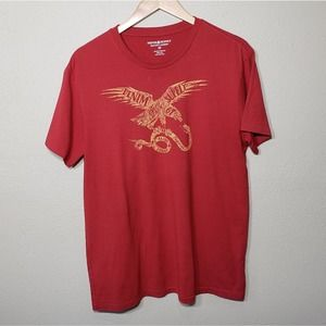 Ralph Lauren Men's T-shirt Tee Red Eagle M